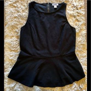 NWOT black peplum top from Old Navy size small